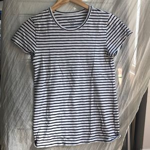J. Crew 100% cotton striped studio tee